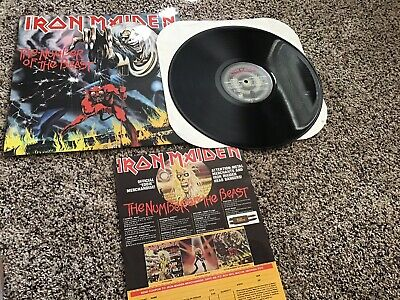 Iron Maiden The Number Of The Beast Lp, HARVEST RECORDS ST-12202