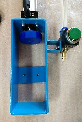 Blue Pneumatic Can Crusher 12 &16 Oz Air Cylinder Recycling Man Cave Dad Gift