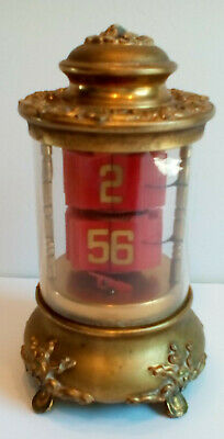 ⏰ 1905 Antique Ansonia Plato Jump Hour Digital Flip Carriage Mystery Desk Clock
