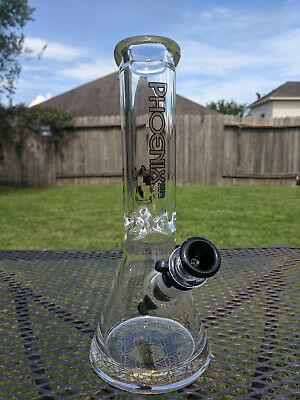 """Glass Beaker Water Pipe Bong Imperial Red Potion 13/"""" Tall 9mm Thick Durable"""