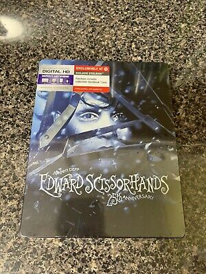 Edward Scissorhands (Blu-ray) - 25th Anniv. Edition SteelBook - Target Exclusive