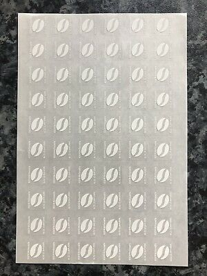 60 Mcdonalds coffee bean stickers - 10 hot drinks -  Dec 2019