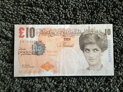 Banksy tenner genuine original di faced ten pound note