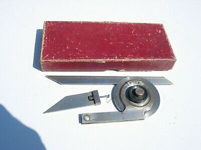 Machinist Tool LS Starrett No 364A Bevel Protractor with Box