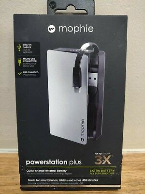 MOPHIE POWERSTATION Plus 3X (quick charge external battery for cell phone USB)