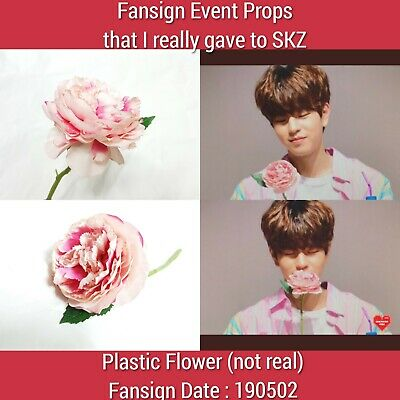 Stray Kids Fansign Event Photo Props Artificial Plastic Pink Flower@ SeungMin