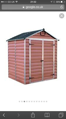 NEW PALRAM SKYLIGHT Amber Plastic Garden Shed's with Built
