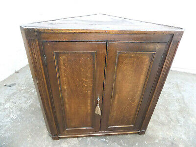 small,antique,victorian,oak,corner cabinet,shelves,cabinet,cupboard,corner