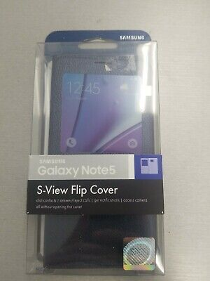 Official OEM SAMSUNG Galaxy Note 5 S-View Flip Cover Original Genuine Phone case