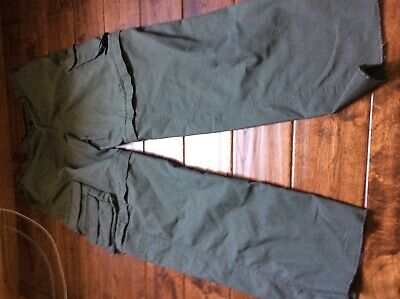 Boy Scouts of America Pants Shorts Green Unhemmed Youth Convertible uniform 16