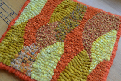"5"" x 5"" Rug Hooking Kit - ""Maine Mountains Abstract"""