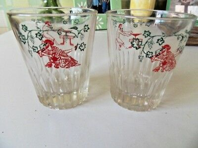Two small vintage glasses. Probably Greek.