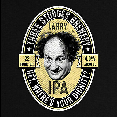 Three Stooges T-Shirt  Three Stooges Brewery Larry IPA Official Licensed Tee