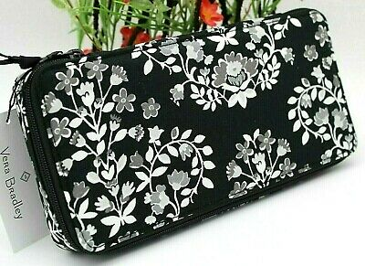 Vera Bradley Large Travel Pill Case Chandelier Noir