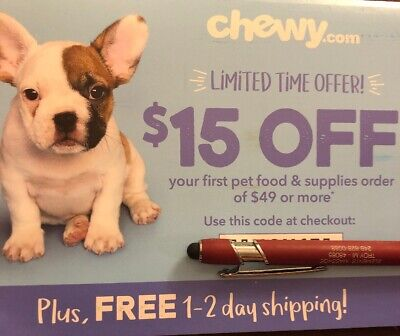 CHEWY.COM Coupon $15 Off FIRST order of $49+ Expires 10/31/19 ~ Fast E-Delivery