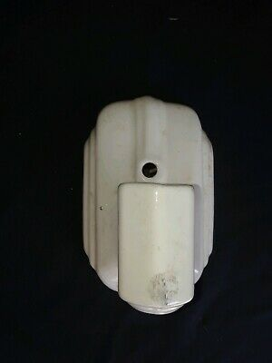 Vintage Art Deco Porcelain Wall Mount Sconce Light Fixture, Pull Chains