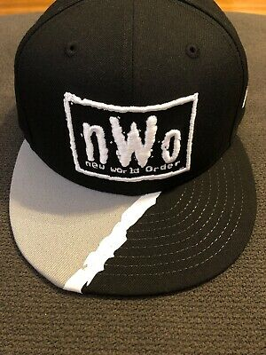 8842a5dd Rare 2019 WWE NWO New Era 59Fifty Fitted Hat size 7 1/4 Limited Edition