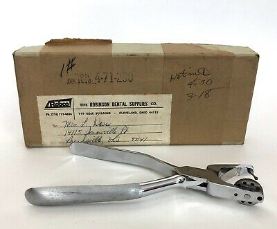 Vintage Chrome Miltex Rubber Dam Punch Made In Germany Dental Tool