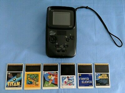 """PC ENGINE GT Handheld Upgraded W/ 3 5"""" LCD  Turbo Express"""