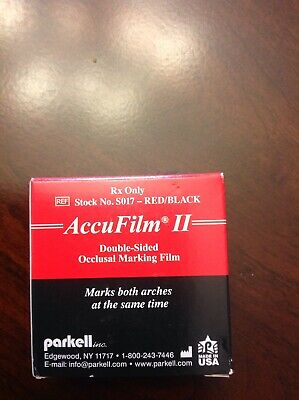 """Parkell S017 Accu Film II Articulating Film Double Sided Black/Red .0008"""" 280/Pk"""