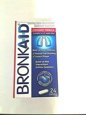 (1) Box Bronkaid Tablets 24 Ct New Asthma/Allergies Exp 2020 Fast Ship