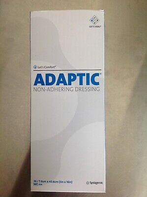 """6 Boxes To A Case/ 36 Each Adaptic Non-adhering Dressing 3"""" x 16"""" 2014 Exp 2023"""