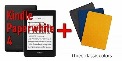 Amazon All-new Kindle Paperwhite 4 + Official Fabric Cover set (2018 10th gen)