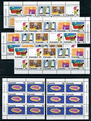 Weeda Canada 523a, 528a, 529-530 VF MNH set of M/S of PBs CV $117