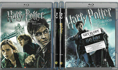 4 Movie Lot- Harry Potter Deathly Hallows Part 1 Half-Blood ++  Blu Ray Movies