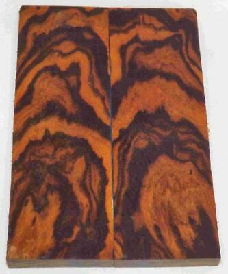 Desert Ironwood bookmatched figured knife scales blanks 5.2 x 1.7 x .37 #460
