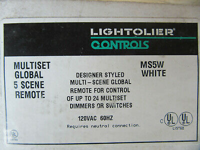Lightolier MS5W White Remote Control up to 24 Multiset Dimmers & Switches NEW!!!