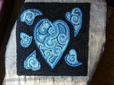 """""""Hearts and Chocolate"""" Custom Color Schemes - 15"""" x 15"""" Rug Hooking Kit"""