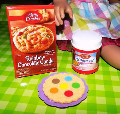 "Betty Crocker Rainbow Choco Candy Cookie lot fits American Girl Dolls 16"" 18"""