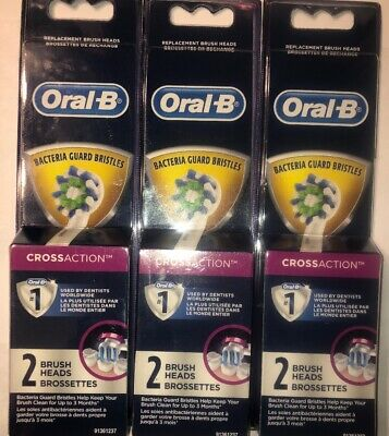 Oral-B CrossAction Electric Toothbrush Replacement Brush Heads, 6 Count