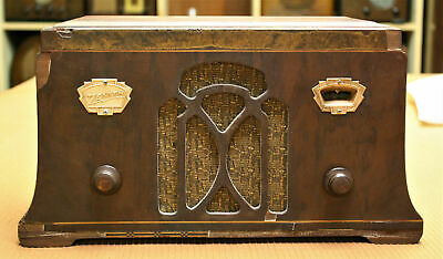 Vintage Old Antique Zenith Wooden Tube Radio-Restored Chassis,1933,Working!