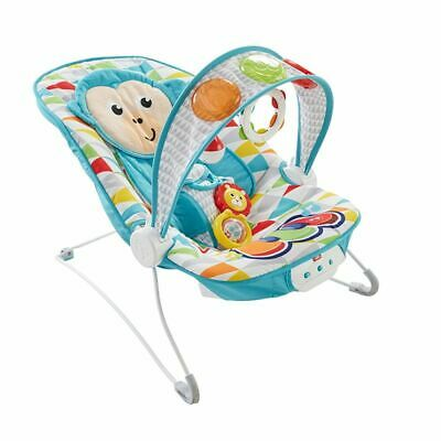 New Fisher Price Deluxe Kick N Play Musical Bouncer Lights Music (Monkey)