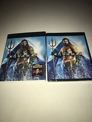 AQUAMAN (4K ULTRA HD+BLU-RAY+DIGITAL) NEW w/SLIPCOVER
