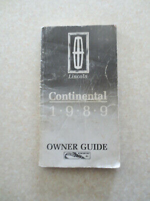Original 1989 Lincoln Continental automobile owner's manual