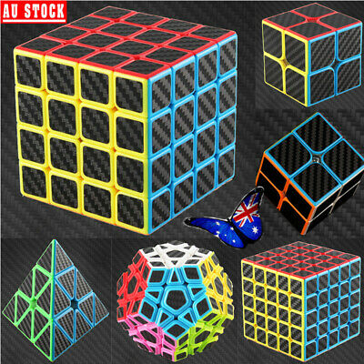 AU 2x2 4x4 5x5 Magic Cube Super Smooth Fast Speed Rubik Puzzle Rubics Rubix Gift