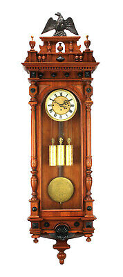"58"" German Gustav Becker Grand Sonnerie 3 Weight Vienna Regulator Wall Clock"