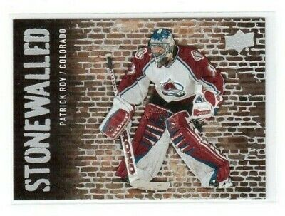 2018-19 Upper Deck Series 1 Stonewalled SW-48 Patrick Roy Colorado Avalanche 1:6
