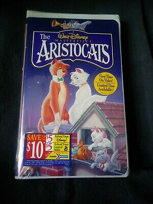 The Aristocats Walt Disney Masterpiece Collection VHS Tape New Factory Sealed