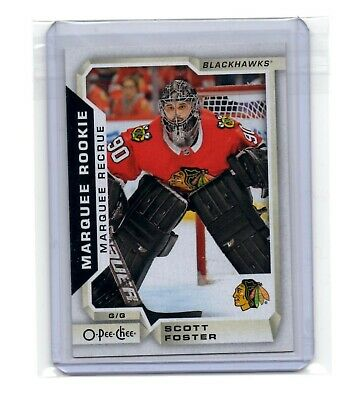 🔥 Scott Foster 2018-2019 O-Pee-Chee #543 Marquee Rookie Card Chicago Blackhawks