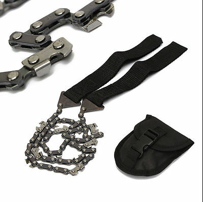 Survival Chain Saw Hand ChainSaw Emergency Camping Kit Tool Pocket small too JF
