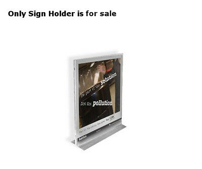 Clear Acrylic Vertical/Horizontal T-Strip Sign Holder 4W x 6H Inches - Box of 10