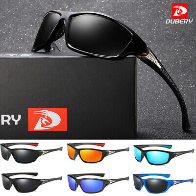 Mens Sports Sunglasses Running Cycling Wrap Around Polarised UV Protection