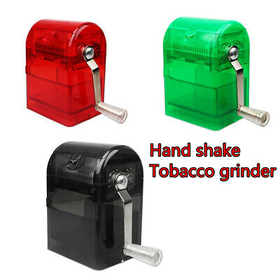 Hand Crank Crusher Tobacco Cutter Grinder Hand Muller Shredder Smoking Case UK