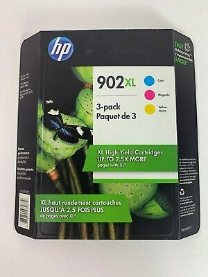 HP 902XL Color Ink 3-Pack T0A41BN for OfficeJet Pro 6954 6968 Genuine 08/2020