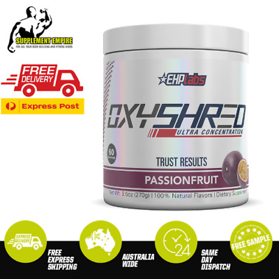 EHP Labs OxyShred PASSIONFRUIT Flavour Fat Burner Thermogenic 60 serves