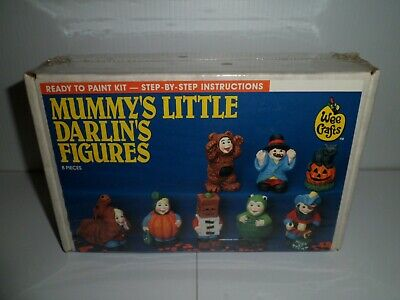 Vintage Wee Crafts Accents Unlimited Halloween Mummy's Little Darlin's Figures